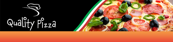 Quality Pizza Bundbanner